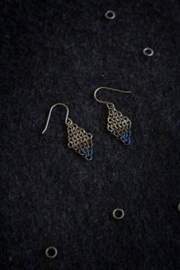 "Apo A Nani - Handmade Titanium Earrings #2 - ""Dipped in Tiers"""