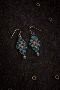 "Apo A Nani - Handmade Titanium Earrings #5 - ""Lagoon"""
