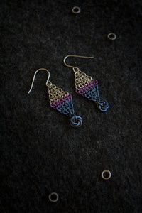 "Apo A Nani - Handmade Titanium Earrings #7 - ""UV"""