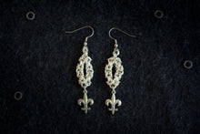 "Apo A Nani - Handmade Fashion Earrings #11 - ""Fleur De Lis"" - Silver Plated"