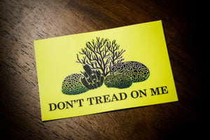 """Don't Tread on Me"" - Coral Reef Sticker from West Maui Design Co."