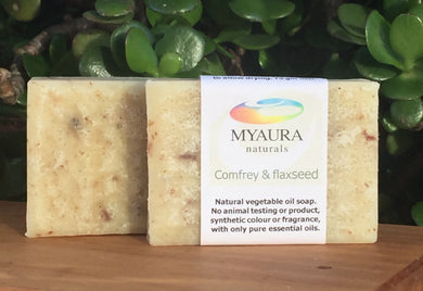 Comfrey & Flaxseed Soap