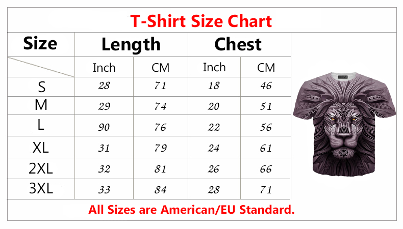 hoodie now t-shirt size chart