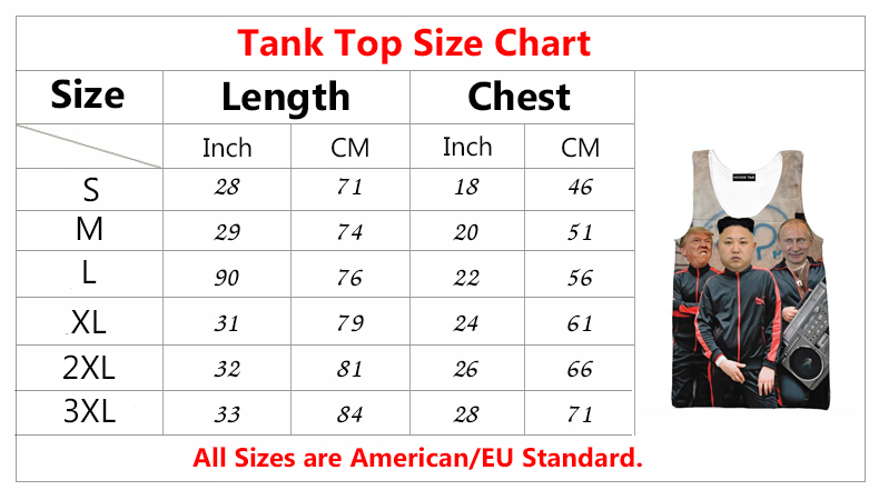 hoodie now tank top size chart