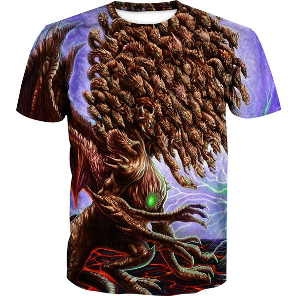 100 Head Dragon T-Shirt - Epic Fantasy Dragon Clothing - Hoodie Now