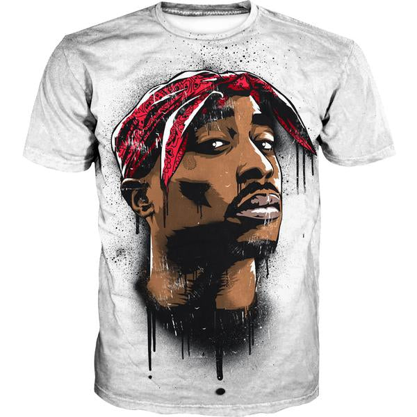 2Pac Face T-Shirt - Tupac Clothes and Shirts - Hoodie Now