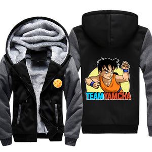 Team Yamcha Jacket - Dragon Ball Z Jackets Fleece
