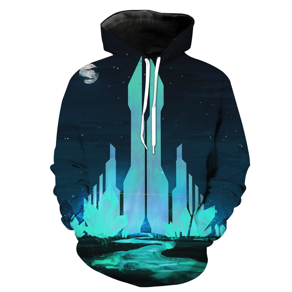 Crystal City Hoodie - Fantasy Hoodies and Clothing - Hoodie Now