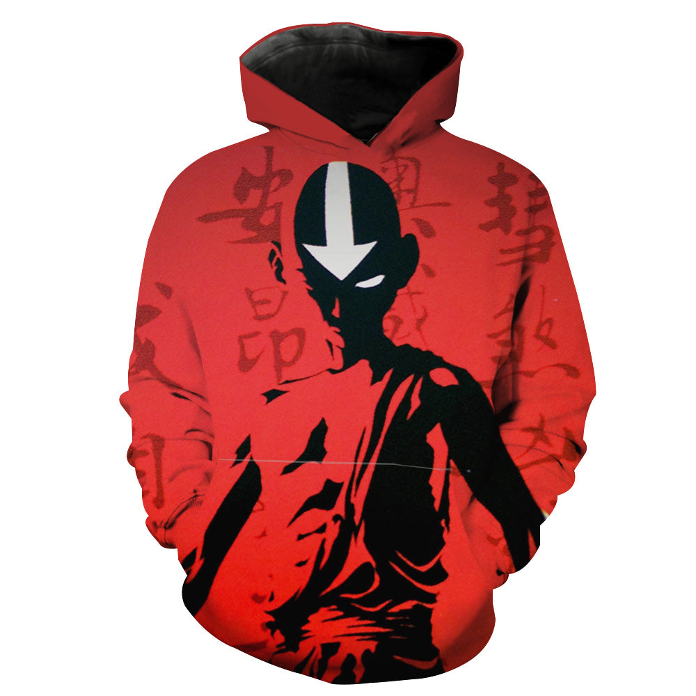 Red Avatar the Last Airbender Hoodie - Red Aang Hoodie - Hoodie Now