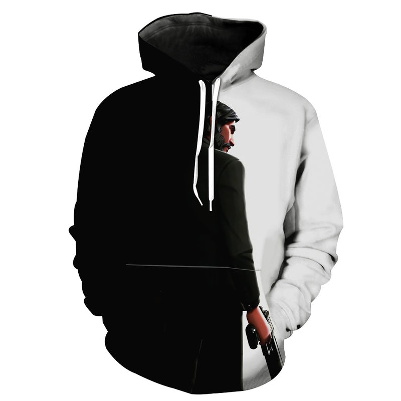 Black and White Reaper Hoodie -Fortnite Skins Apparel