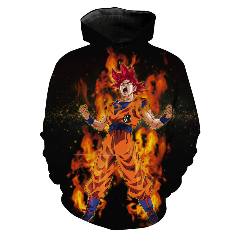 Super Saiyan God Goku Hoodie - Dragon Ball Super Clothes