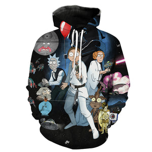 Rick and Morty Star Wars Hoodie
