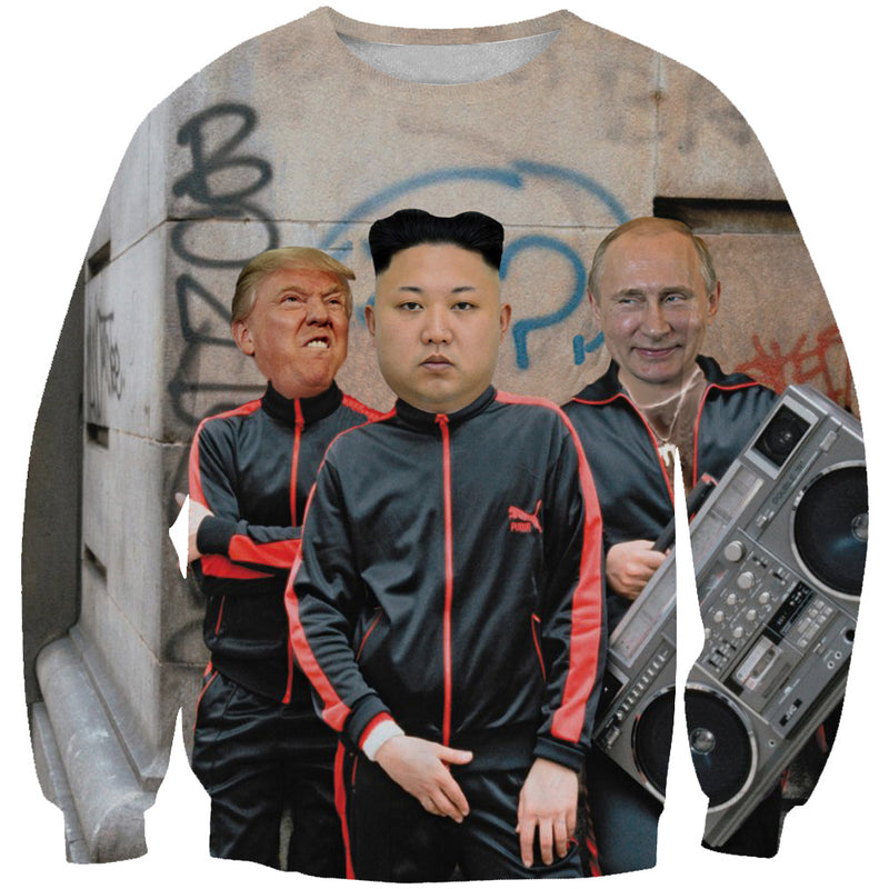 Donald Trump, Kim Jung Un and Putin Sweatshirt - Funny Printed Clothes