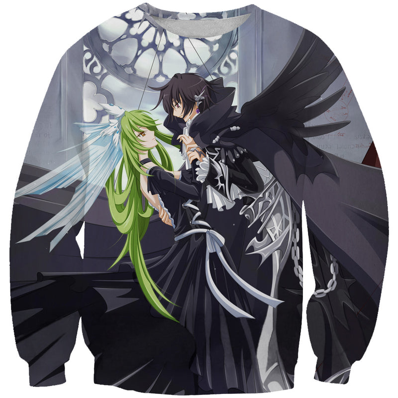 Code Geass Clothing - Lelouch and CC Sweatshirt - Anime Clothes