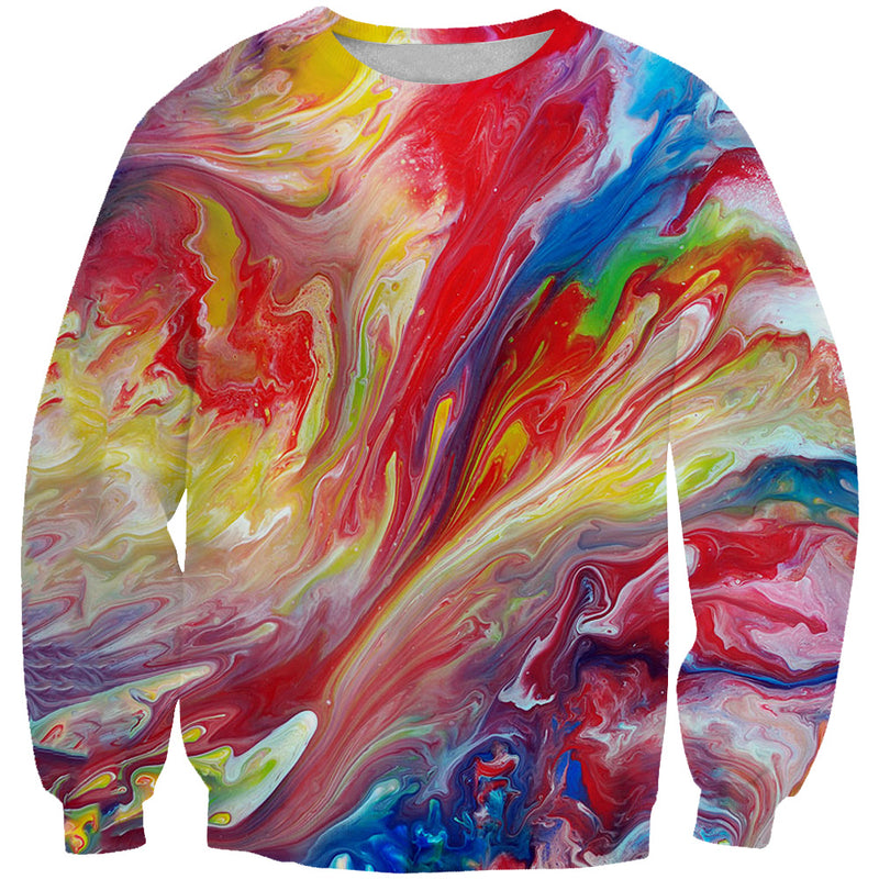 Colorful Paint Sweatshirt - Colorful Clothing