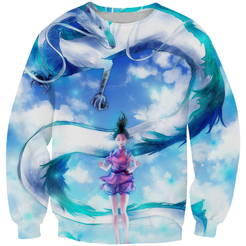 Spirited Away Sweatshirt - Spirited Away Dragon Anime Clothing - Hoodie Now