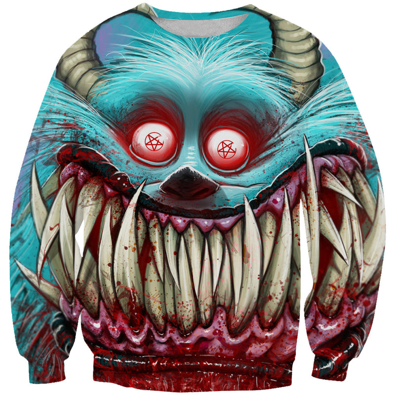 Creepy Monster Inc Style Sweatshirt - Scary Monster Clothing - Hoodie Now