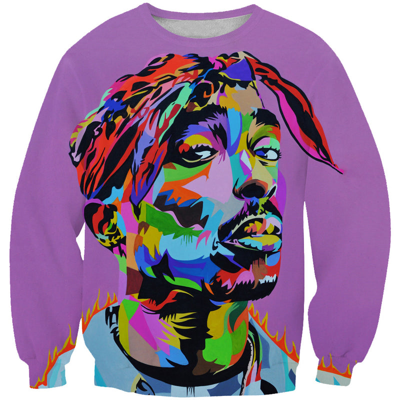 Colorful Tupac Sweatshirt - 2Pac Hoodies and Clothes - Hoodie Now