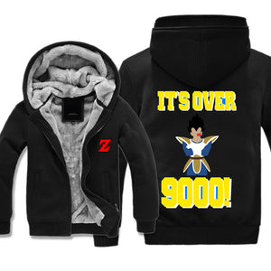 Vegeta It's Over 9000 Jacket - Dragon Ball Z Jackets Fleece