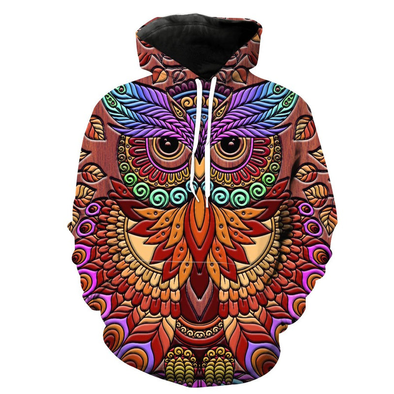 Abstract Owl Hoodie