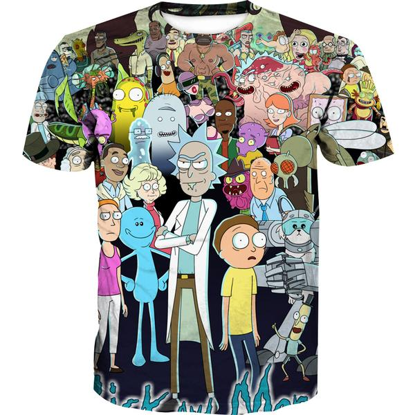All Character Rick and Morty T-Shirt - Rick and Morty Clothes