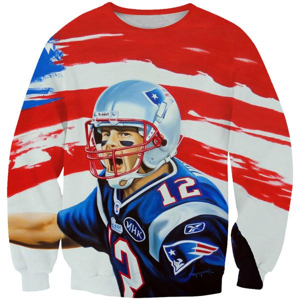 American Tom Brady Sweatshirt - Tom Brady Clothing - Football