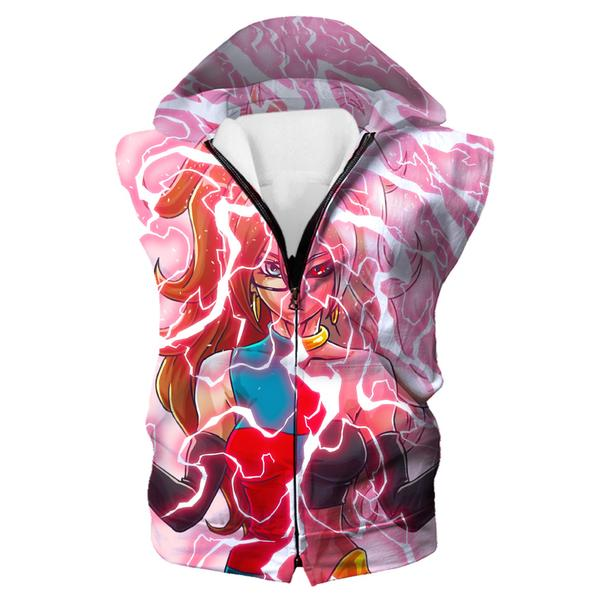 Android 21 and Majin Buu Hooded Tank - Dragon Ball Fighter Z Hoodies - Hoodie Now