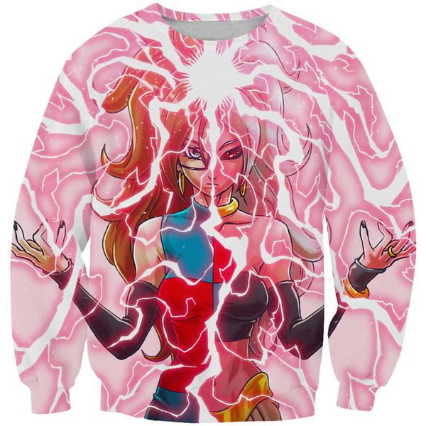 Android 21 and Majin Buu Sweatshirt - Dragon Ball Fighter Z Sweaters