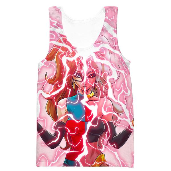 Android 21 and Majin Buu Tank Top - Dragon Ball Fighter Z Gym Shirts