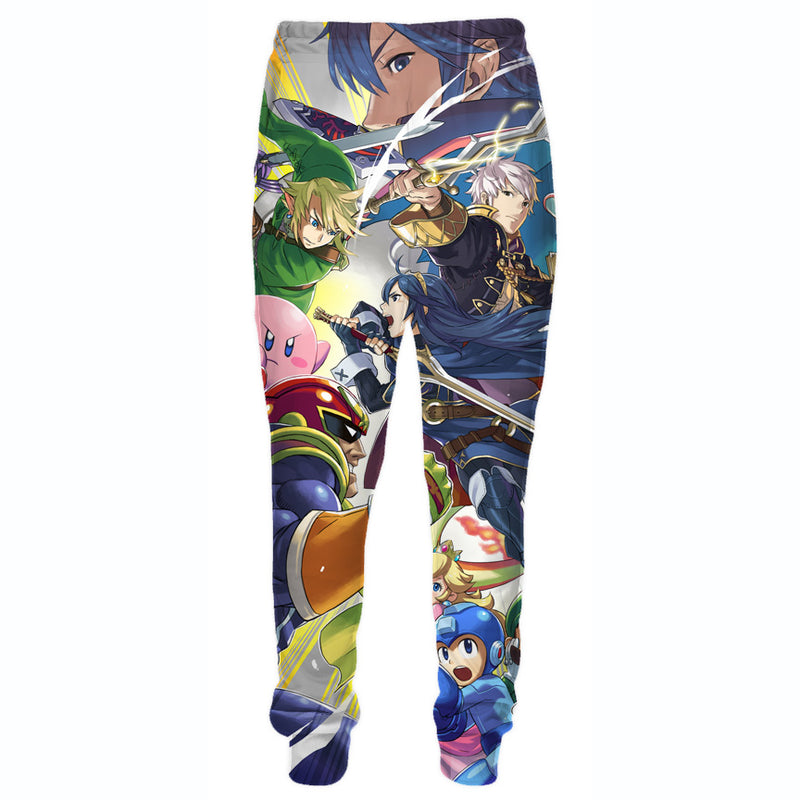 Super Smash Bros Sweatpants - Video Game Clothing - Hoodie Now