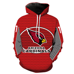 Arizona Cardinals 3D Hoodie Pullover - NFL Football Hoodies - Hoodie Now