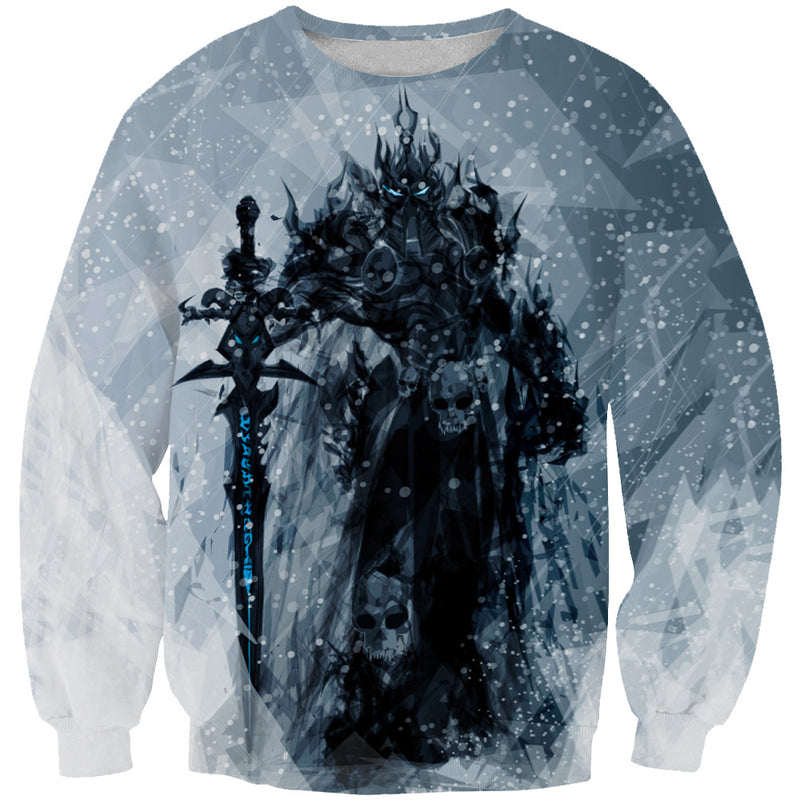 Lich King Arthas Sweatshirt - World of Warcraft Clothes - Hoodie Now