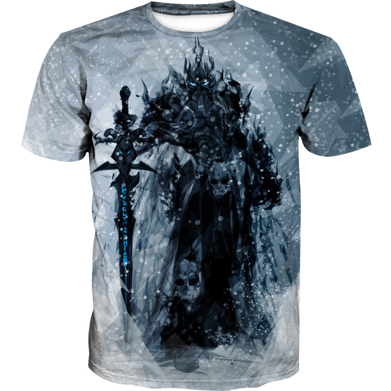 Lich King Arthas T-Shirt - World of Warcraft Clothes - Hoodie Now
