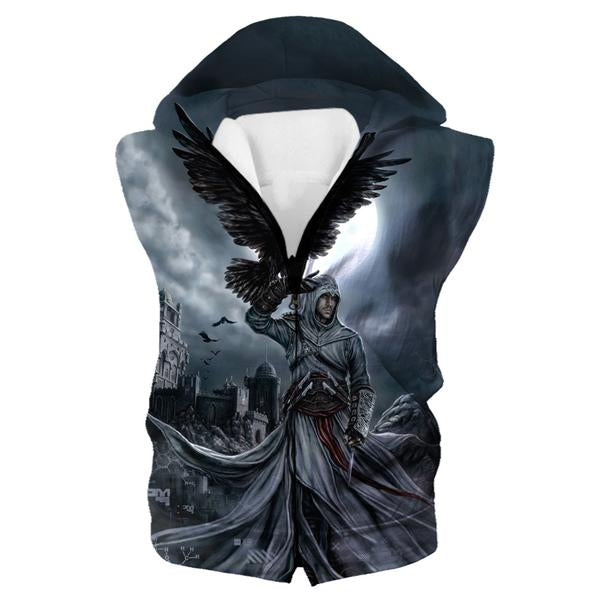 Assassins Creed Hooded Tank - Raven Hoodie