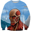 Attack on Titan Sweatshirt - Titan Face Sweater - Anime Clothes