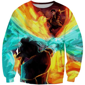 Azula vs Zuko Sweatshirt - Epic Avatar the Last Airbender Clothes