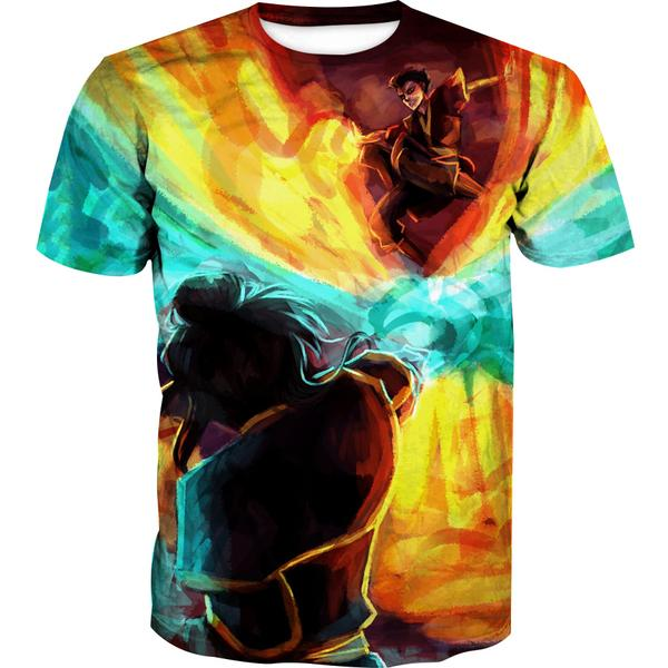 Azula vs Zuko T-Shirt - Epic Avatar the Last Airbender Clothes