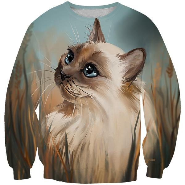 Beautiful Cat Sweatshirt - Animal Clothing