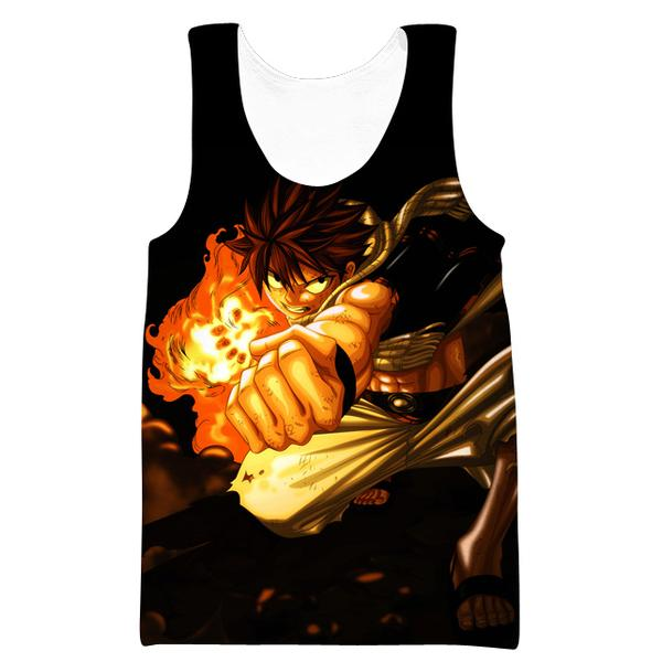 Black Fairy Tail Anime Clothes - Natsu Punch Tank Top - Hoodie Now