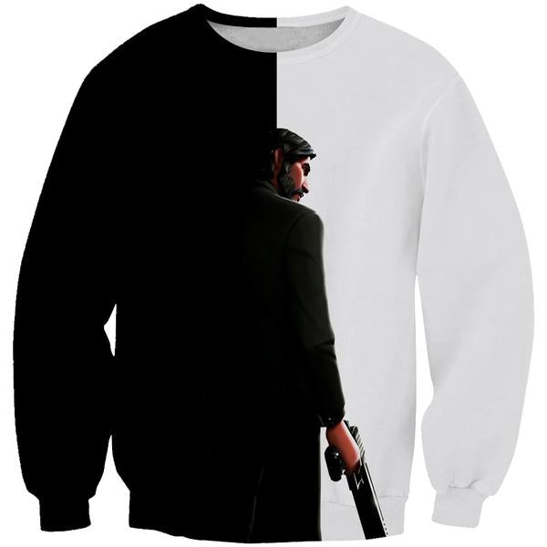 Black and White Reaper Sweatshirt -Fortnite Skins Apparel