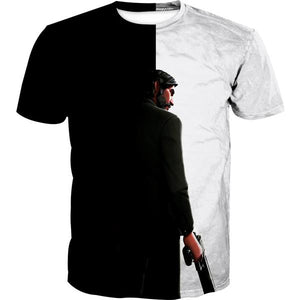Black and White Reaper T-Shirt -Fortnite Skins Apparel