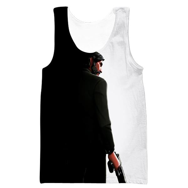 Black and White Reaper Tank Top -Fortnite Skins Apparel