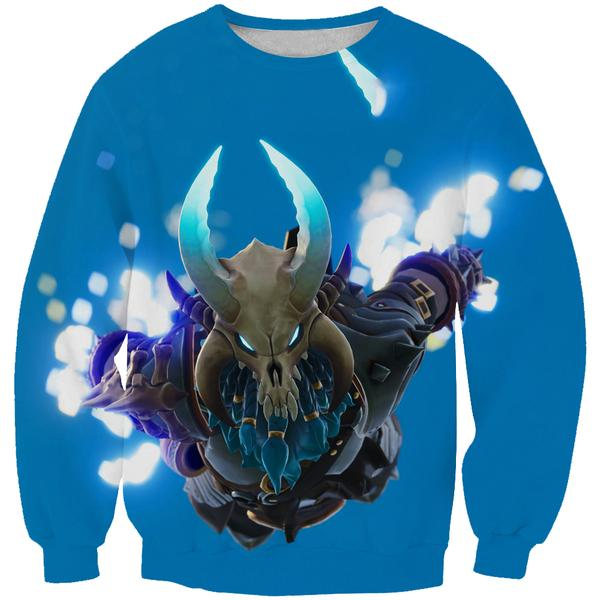 Blue Fortnite Ragnarok Skin Sweatshirt -Fortnite Battle Royale Clothing