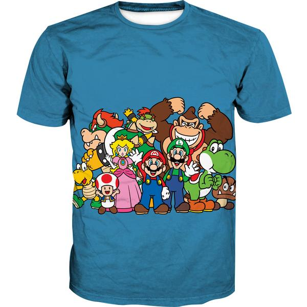 Blue Nintendo Character T-Shirt - Video Game Clothing - Hoodie Now
