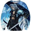 Blue Sephiroth Sweatshirt - Final Fantasy Clothing - Gaming Clothes