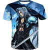 Blue Sephiroth T-Shirt - Final Fantasy Clothing - Gaming Clothes - Hoodie Now