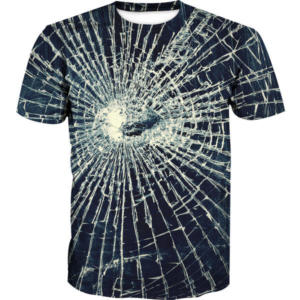 Broken Glass T-Shirt - Epic Printed Clothes - Hoodie Now