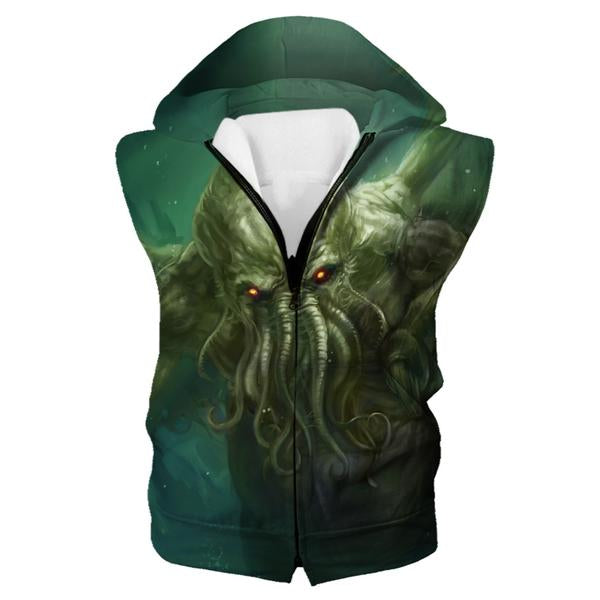 Charging Cthulhu Hooded Tank - Nerd Gaming Cthulhu Clothes