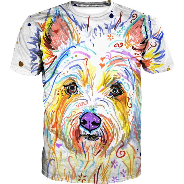 Colorful Dog T-Shirt - Dog Printed Clothing - Hoodie Now