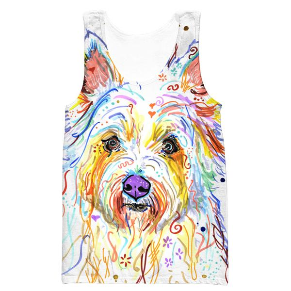 Colorful Dog Tank Top - Dog Printed Clothing - Hoodie Now